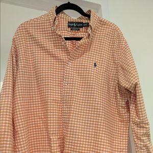Ralph Lauren Classic Fit Shirt 16.5 34/35, Orange